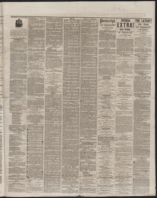 Boston Daily Journal, [newspaper]. April 27, 1865.