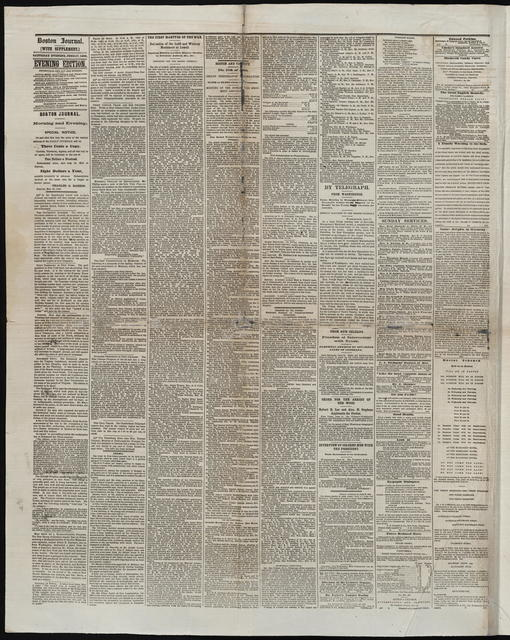 Boston Daily Journal, [newspaper]. June 17, 1865.