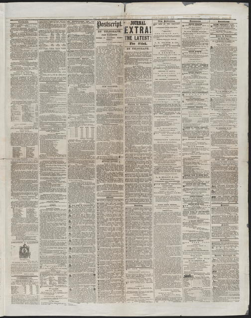 Boston Daily Journal, [newspaper]. May 1, 1865.