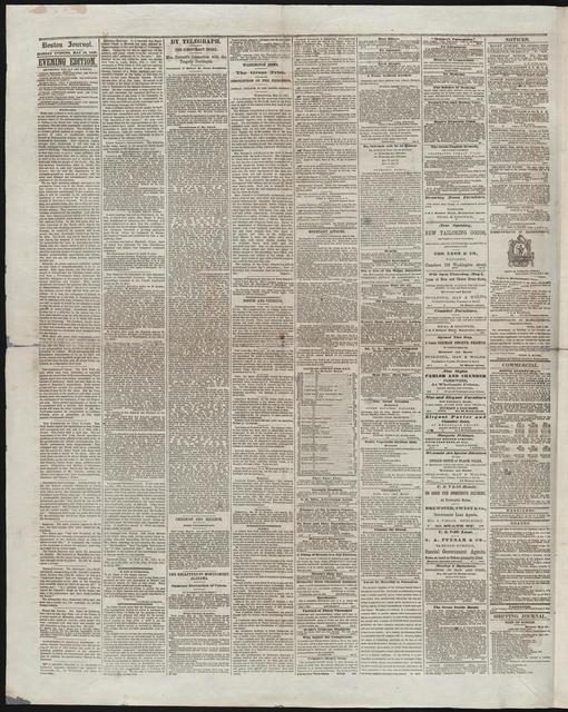Boston Daily Journal, [newspaper]. May 15, 1865.