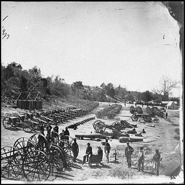 [Broadway Landing, Va. Federal ordnance at the depot]