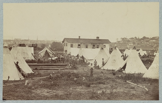 Camp of U.S. Military R.R. Construction Corp near Manchester, Va., April, 1865