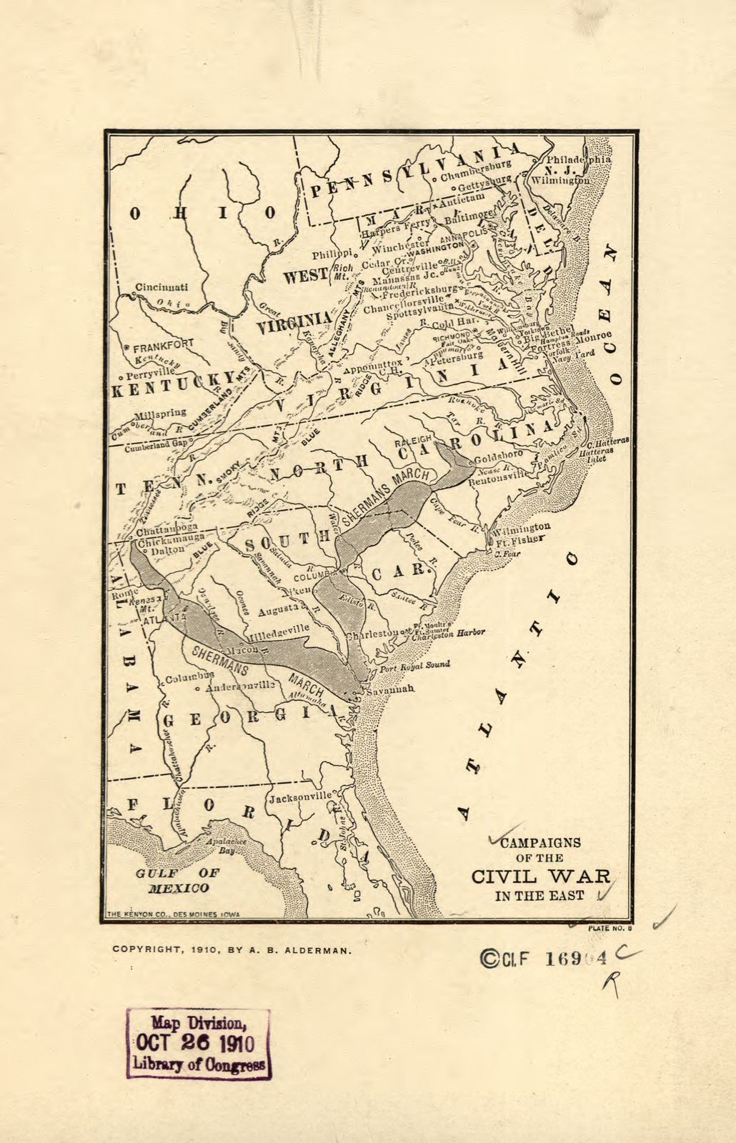 Campaigns of the Civil War in the East.
