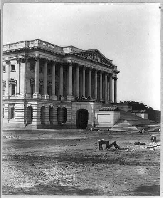 [Capitol exterior, north portico, east front]