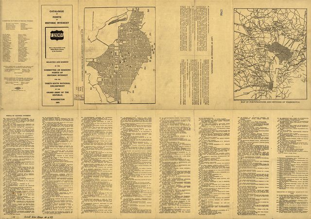 Catalogue of points of historic interest : [Washington D.C. and metropolitan area] /