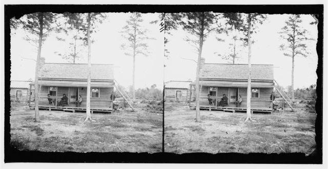 Chapin's Bluff, Virginia. Quarters of Maj. H.A. Pierce, 1st Connecticut Heavy Artillery