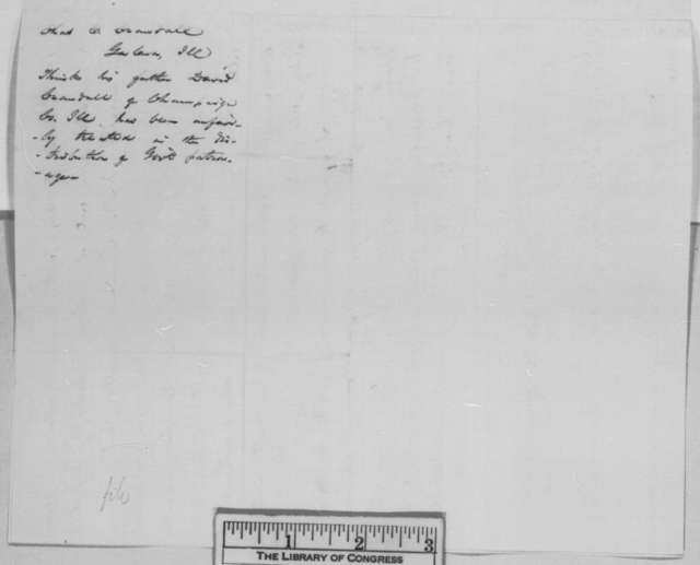 Charles E. Crandall to Abraham Lincoln, Friday, February 17, 1865  (Office for David S. Crandall)