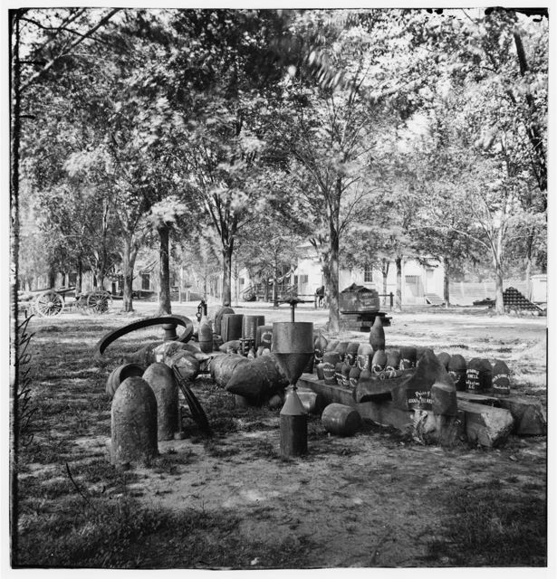 [Charleston, S.C. Confederate torpedoes, shot, and shell in the Arsenal yard]