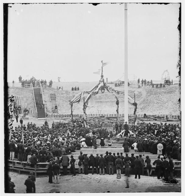 [Charleston, S.C. Crowd inside Fort Sumter; another view]