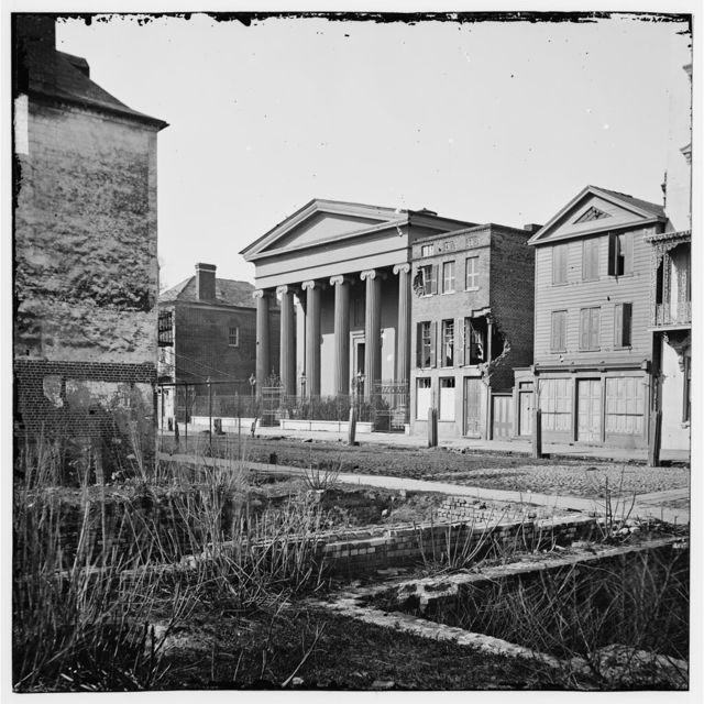 [Charleston, S.C. Hibernian Hall (with columns; 105 Meeting Street), place of meeting after the burning of Secession Hall]