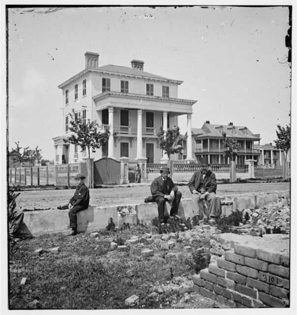 Charleston, South Carolina. O'Connor house (180 Broad Street), where Federal officers were confined under fire