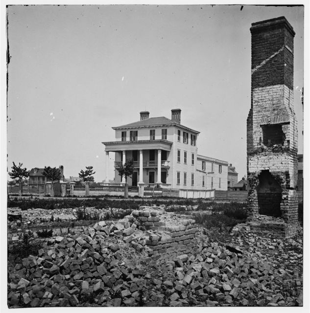 Charleston, South Carolina. O'Connor house on Broad Street where Federal officers were confined under fire