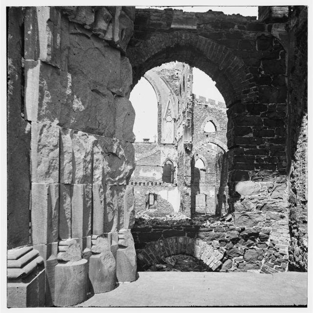 Charleston, South Carolina. Ruins of Roman Catholic Cathedral. Interior view