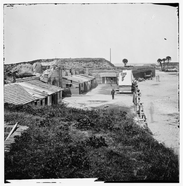 Charleston, South Carolina (vicinity). Interior view of Fort Moultrie. (Sullivan's Island)
