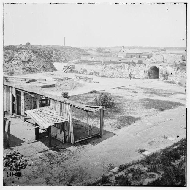 Charleston, South Carolina (vicinity). Interior view of Fort Moultrie. (Sullivan's Island)