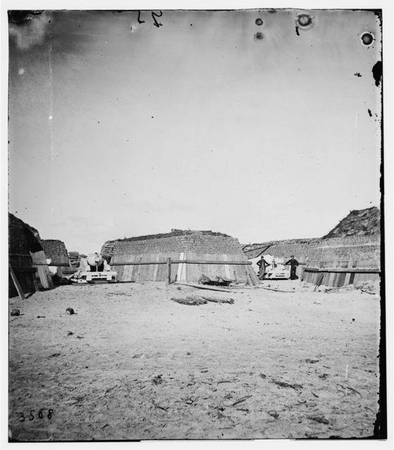 Charleston, South Carolina (vicinity). Naval battery on Morris Island