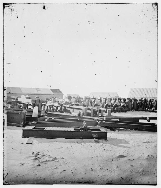 Charleston, South Carolina (vicinity). Ordnance depot on Morris Island