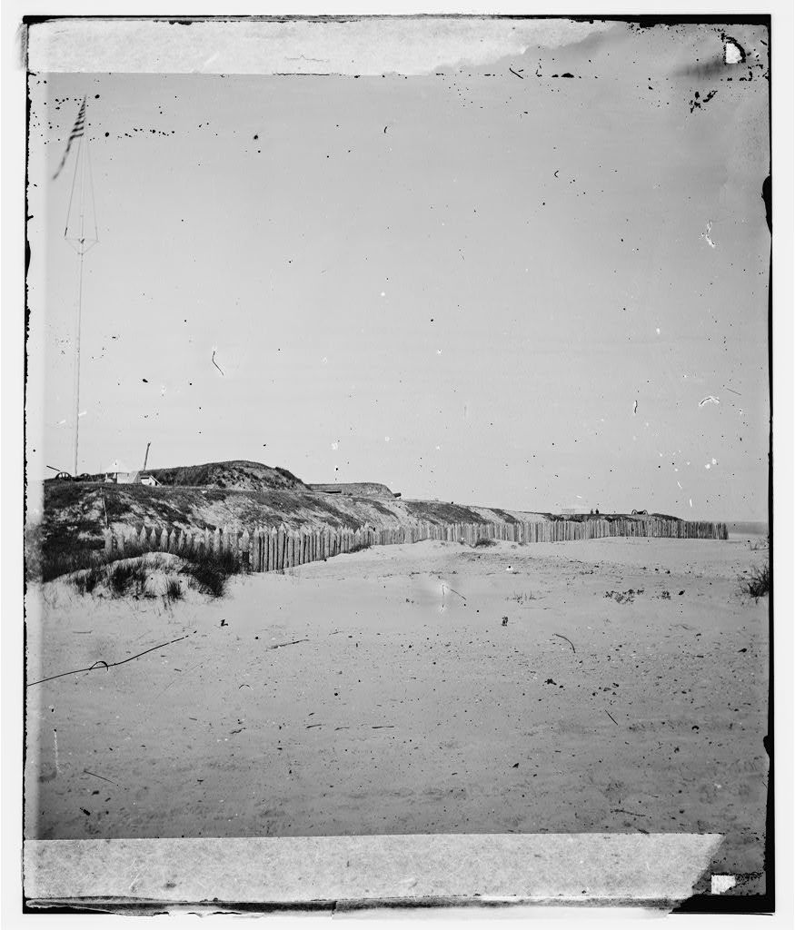 Charleston, South Carolina (vicinity). View of Forts Wagner & Gregg on Morris Island, evacuated by Confederates, September 6, 1863