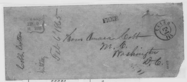 Chicago Bankers to Abraham Lincoln, [February 1865]  (Petition recommending Hugh McCulloch for Secretary of Treasury)