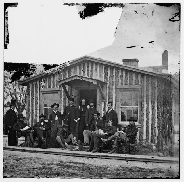 [City Point, Va. Members of Gen. Ulysses S. Grant's staff]