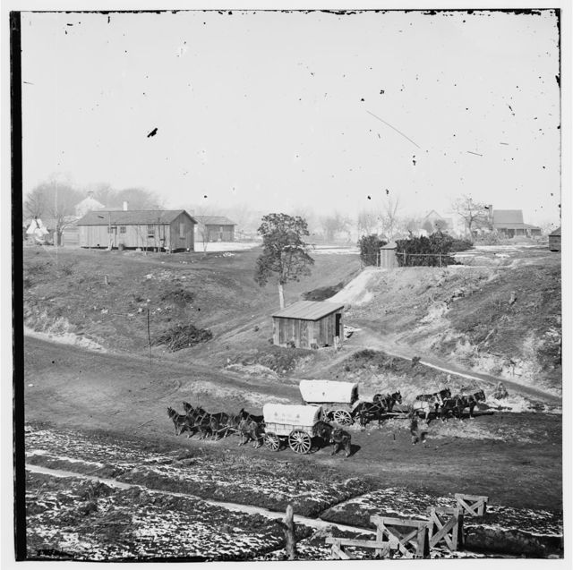 City Point, Virginia. Supply wagons of 2d Brigade, 2d Corps