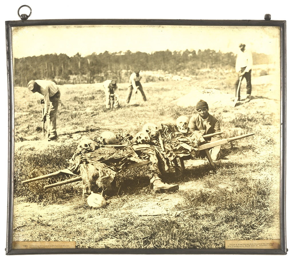 Collecting remains of killed at Cold Harbor for re-internment