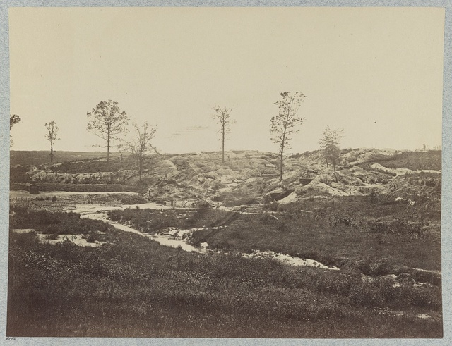 Confederate fortifications at Gracie's Salient in front of Petersburg, Va.