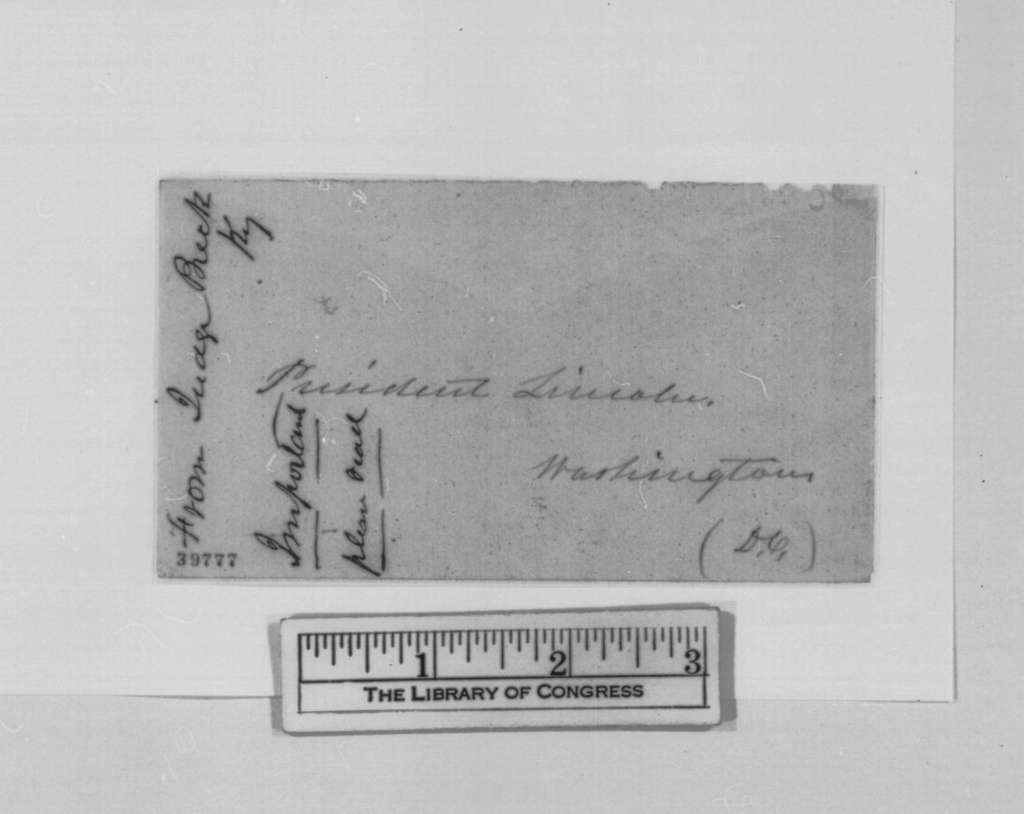Daniel Breck to Abraham Lincoln, Tuesday, January 03, 1865  (Requests exchange of prisoner)
