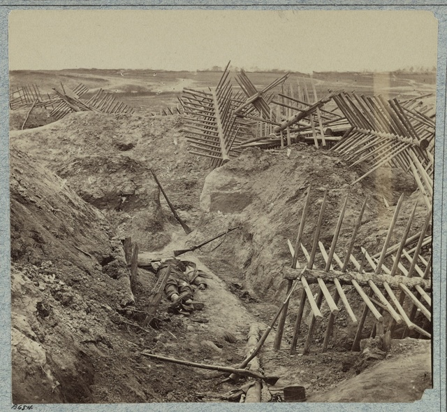 Dead Confederates in the trenches of Fort Mahone, April 3, 1865