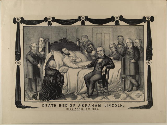 Death Bed of Abraham Lincoln, [Magee print].