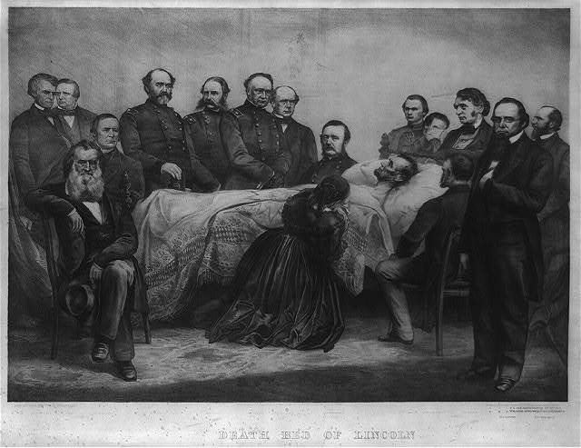 Death bed of Lincoln / A. Brett & Co. 83 Nassau St.