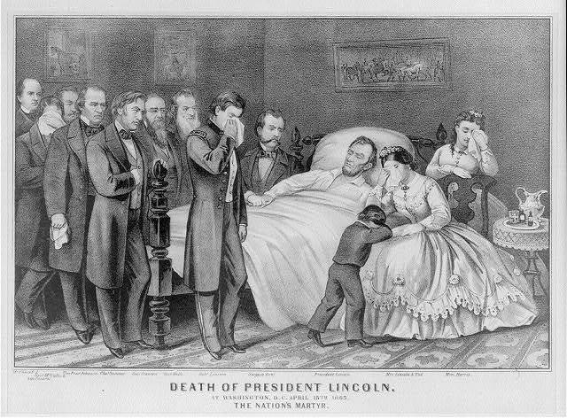 Death of President Lincoln: At Washington, D.C. April 15th 1865. The Nation's Martyr