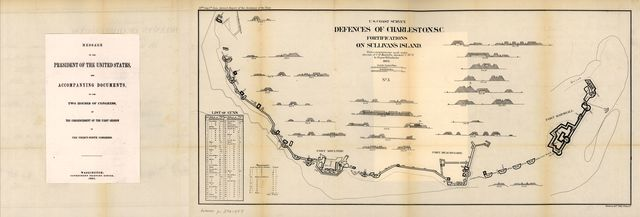 Defences of Charleston S.C. Fortifications on Sullivan's Island