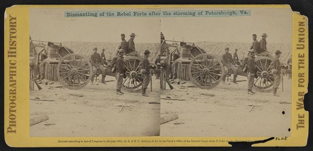 Dismantling of the rebel forts after the storming of Petersburgh (i.e. Petersburg), Va.