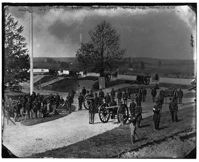 District of Columbia. Company F, 3d Regiment Massachusetts Heavy Artillery at Fort Stevens