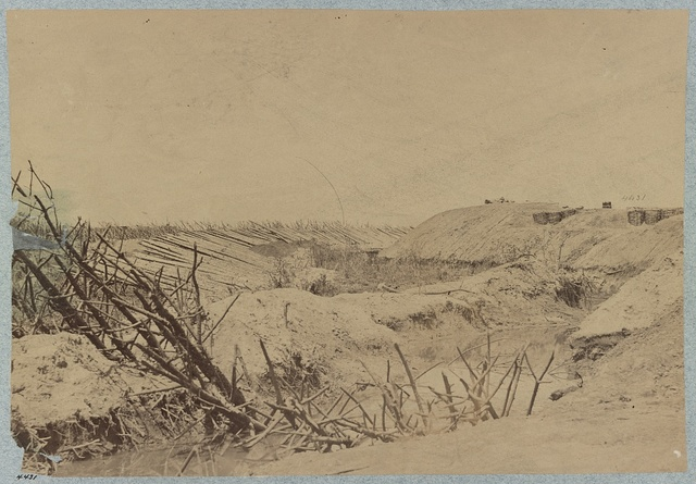 Ditch and abattis (i.e. abatis) in front of Fort Sedgewick (i.e. Sedgwick)