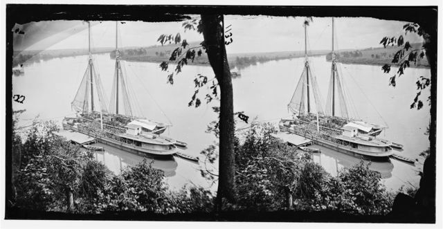 [Drewry's Bluff, Va. Federal transports with cargoes of artillery on the James]