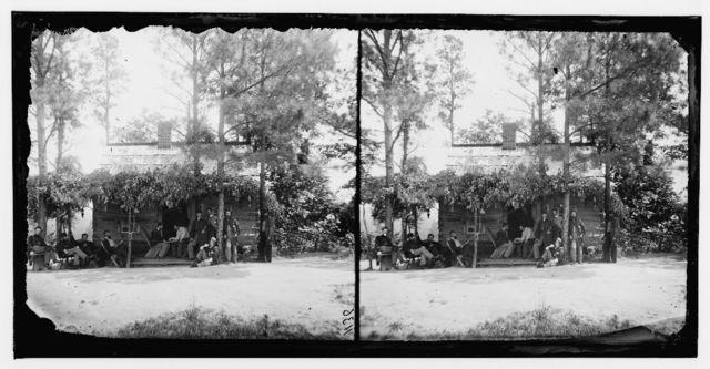 Drewry's Bluff, Virginia. Adj. Quarters, 1st Conn. Heavy Artillery at Fort Darling