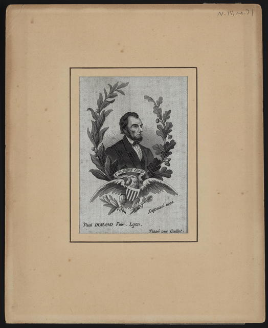 [Durand portrait of Lincoln.]