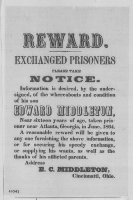 E. C. Middleton, [January 29, 1865]  (Printed broadside)