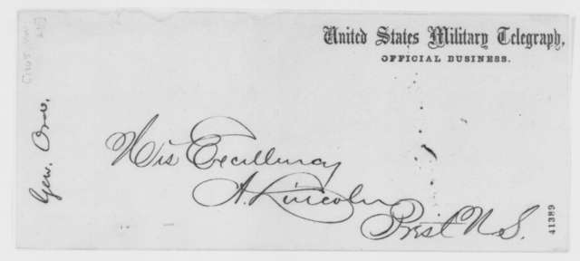 Edward O. C. Ord to Abraham Lincoln, Tuesday, March 21, 1865  (Telegram concerning George W. Lane)