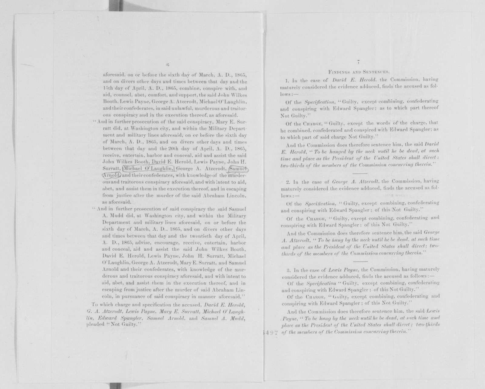 Edwin McMasters Stanton Papers: Correspondence, 1831-1870; 1865; 1865, July 5-Sept. 25