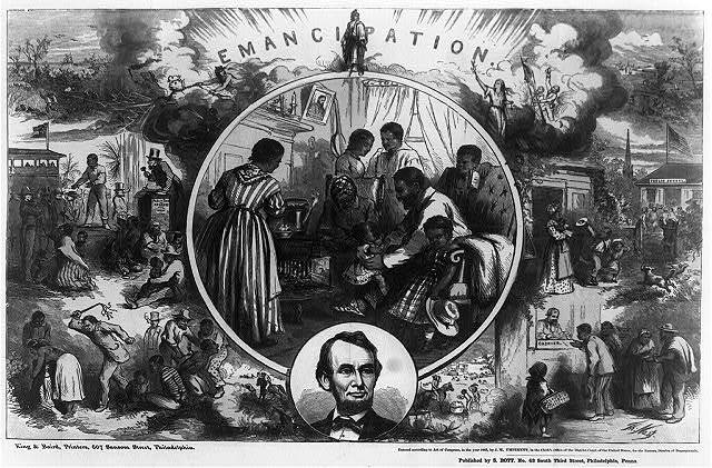 Emancipation / Th. Nast ; King & Baird, printers, 607 Sansom Street, Philadelphia.