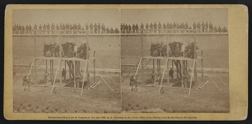 Execution of the conspirators.  The arrival on the scaffold. July 7, 1865