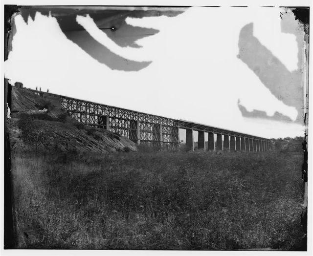 Farmville, Virginia (vicinity). High Bridge over the Appomattox River North west view