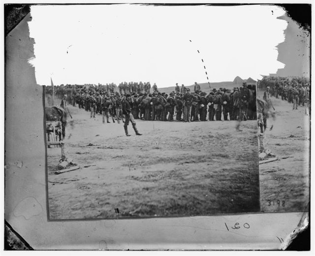 [Five Forks, Virginia (vicinity).] Confederate prisoners on the way to the rear. Captured at Five Forks