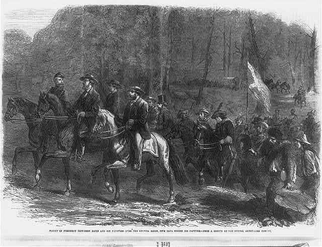 Flight of President Jefferson Davis and his ministers over the Georgia Ridge, five days before his capture