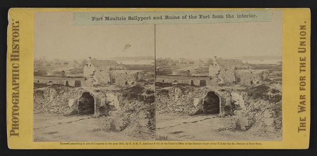 Fort Moultrie Sallyport and ruins of the fort from the interior