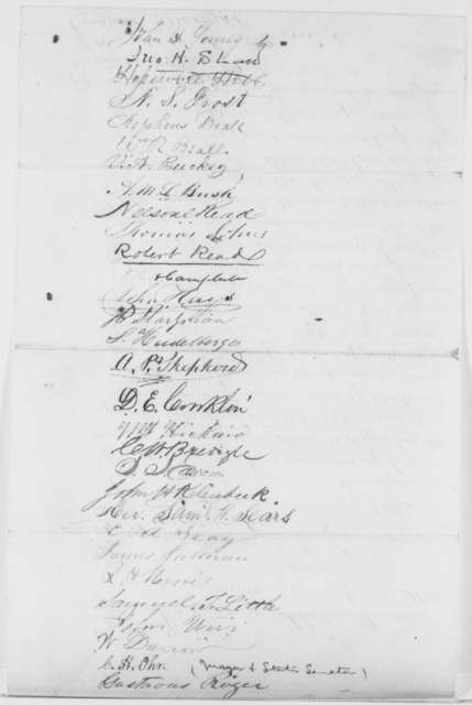 Frostburg, Maryland Citizens to Abraham Lincoln, [January? 1865]  (Petition on Behalf of Henry W. Hoffman)
