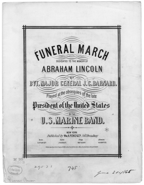 Funeral march dedicated to the memory of Abraham Lincoln